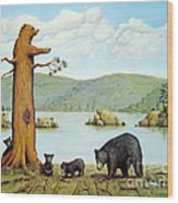 27 Bears Wood Print