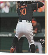 Adam Jones Wood Print