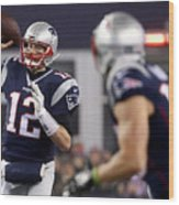 AFC Championship - Pittsburgh Steelers v New England Patriots Wood Print