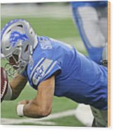 Carolina Panthers v Detroit Lions Wood Print