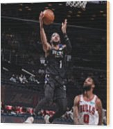 Chicago Bulls v Brooklyn Nets Wood Print