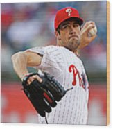 Cole Hamels Wood Print