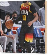 Dallas Mavericks v Utah Jazz Wood Print