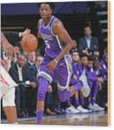 De'aaron Fox Wood Print