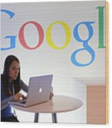 Google Holds News Conference Wood Print
