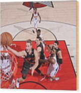 Meyers Leonard Wood Print