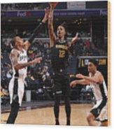 Play-In Tournament - San Antonio Spurs v Memphis Grizzlies Wood Print