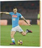 SSC Napoli v US Sassuolo - Serie A Wood Print