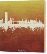 Bilbao Spain Skyline Wood Print
