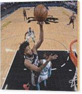 Charlotte Hornets v Sacramento Kings Wood Print