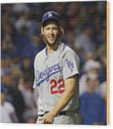 Clayton Kershaw Wood Print