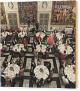 Crown Prince Frederik of Denmark Holds Gala Banquet At Christiansborg Palace Wood Print
