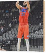Oklahoma City Thunder vs. San Antonio Spurs Wood Print