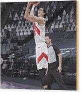 Toronto Raptors v Sacramento Kings Wood Print
