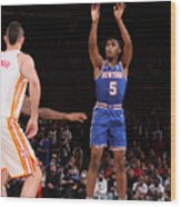 2021 NBA Playoffs - Atlanta Hawks v New York Knicks Wood Print