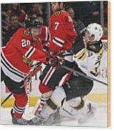 Boston Bruins v Chicago Blackhawks Wood Print