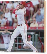 Joey Votto Wood Print
