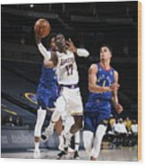 Los Angeles Lakers v Denver Nuggets Wood Print