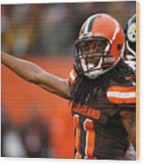 Pittsburgh Steelers v Cleveland Browns Wood Print