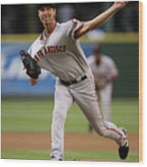 Randy Johnson Wood Print