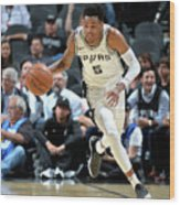 Dejounte Murray Wood Print