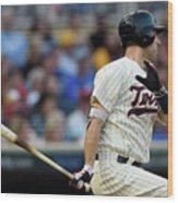 Joe Mauer Wood Print