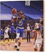 LA Clippers v Golden State Warriors Wood Print