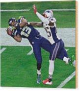 Super Bowl XLIX - New England Patriots v Seattle Seahawks Wood Print