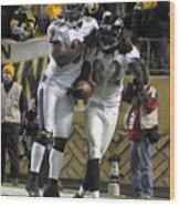 Baltimore Ravens v Pittsburgh Steelers Wood Print