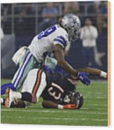 NFL: SEP 25 Bears at Cowboys Wood Print