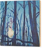 A Chilly Little Number Wood Print