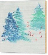 A Happy Flock  Wood Print