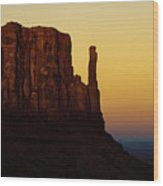 A Monument of Stone - Monument Valley Tribal Park Wood Print