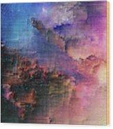 A night of splintering colour Wood Print