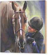 A Secret Shared Hunter Horse With Girl Wood Print