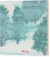 A Walk in the Wood Wood Print