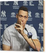 Aaron Judge Wood Print
