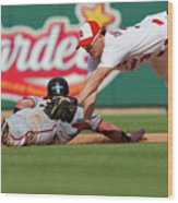 Aaron Rowand and Ryan Theriot Wood Print