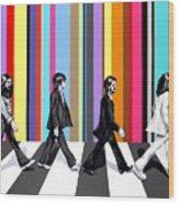 Abbey Road Technicolor  Wood Print