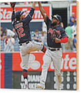 Abraham Almonte and Francisco Lindor Wood Print