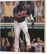 Abraham Almonte and Tyler Naquin Wood Print