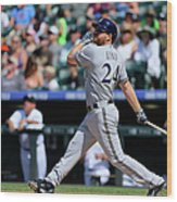 Adam Lind Wood Print