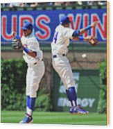 Addison Russell and Starlin Castro Wood Print