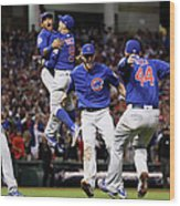 Addison Russell, Kris Bryant, and Javier Baez Wood Print