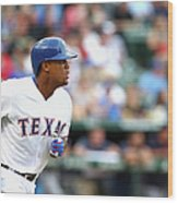 Adrian Beltre and Bruce Chen Wood Print