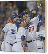 Adrian Gonzalez, John Lamb, and Justin Turner Wood Print