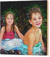 After- Swim Wood Print