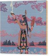 Agwamo - She Walks On Water Wood Print