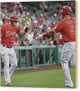 Albert Pujols and Kole Calhoun Wood Print