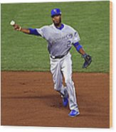 Alcides Escobar Wood Print